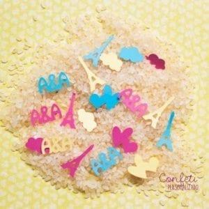 confeti personalizado con arroz