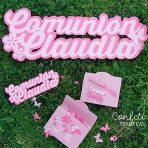 pack especial comunión confeti personalizado